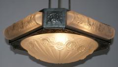 Verrerie d Art Degu French Art Deco Chandelier Signed by Degu France circa 1930 - 2016962