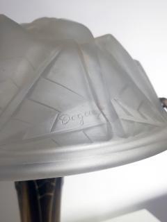 Verrerie d Art Degu Pair of French Art Deco Table Lamp Signed Degu  - 1873925