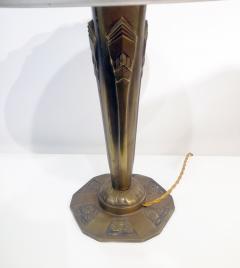 Verrerie d Art Degu Pair of French Art Deco Table Lamp Signed Degu  - 1873935