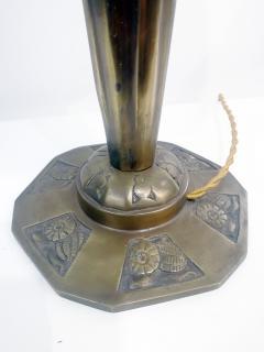 Verrerie d Art Degu Pair of French Art Deco Table Lamp Signed Degu  - 1873941
