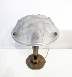 Verrerie d Art Degu Pair of French Art Deco Table Lamp Signed Degu  - 1873943