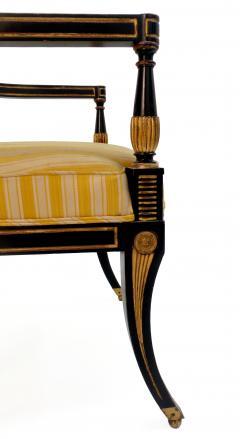 Victoria Son Regency Style Sabre Leg Armchair - 1521341