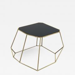 Vintage Domus Collection Customizable coffee table in brass and crystal glass - 915084