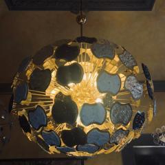 Vistosi Late 20th Century Brass and Multi Color Murano Glass Sputnik Chandelier - 1644276