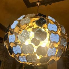 Vistosi Late 20th Century Brass and Multi Color Murano Glass Sputnik Chandelier - 1644277