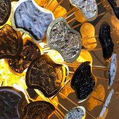 Vistosi Late 20th Century Brass and Multi Color Murano Glass Sputnik Chandelier - 1644283