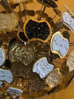 Vistosi Late 20th Century Brass and Multi Color Murano Glass Sputnik Chandelier - 1644314