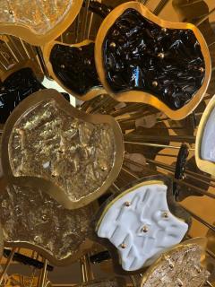 Vistosi Late 20th Century Brass and Multi Color Murano Glass Sputnik Chandelier - 1644319