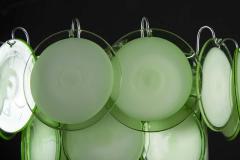 Vistosi Pair of Green Vistosi Disc Murano Chandelier 1970s - 1774903