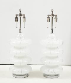 Vistosi Pair of Large Murano Glass Lamps by Vistosi - 1461381
