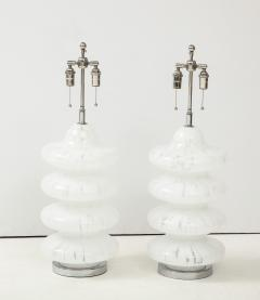Vistosi Pair of Large Murano Glass Lamps by Vistosi - 1461383