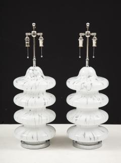 Vistosi Pair of Large Murano Glass Lamps by Vistosi - 1461384