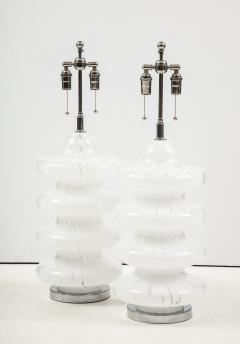 Vistosi Pair of Large Murano Glass Lamps by Vistosi - 1461409