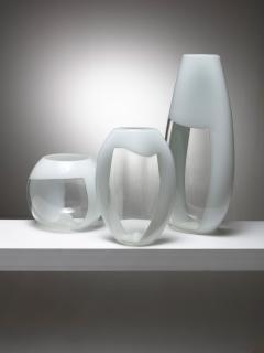 Vistosi Set of Three Glass Vases Manufactured by Vetreria Vistosi - 1134801