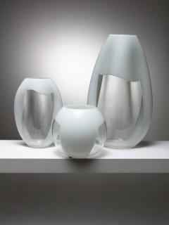 Vistosi Set of Three Glass Vases Manufactured by Vetreria Vistosi - 1134802