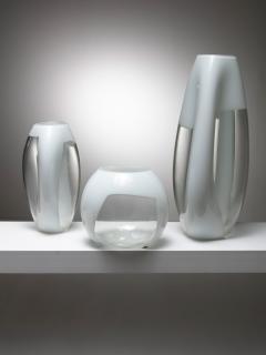 Vistosi Set of Three Glass Vases Manufactured by Vetreria Vistosi - 1134803