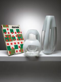 Vistosi Set of Three Glass Vases Manufactured by Vetreria Vistosi - 1134805