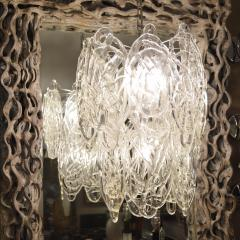 Vistosi Vintage Italian Chandelier w Clear Murano Glass Designed by Vistosi c 1960s - 2125533