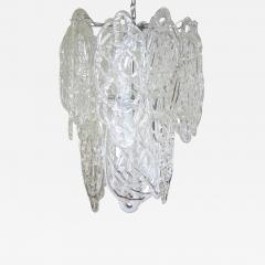 Vistosi Vintage Italian Chandelier w Clear Murano Glass Designed by Vistosi c 1960s - 2125885
