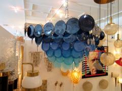 Vistosi vistosi blue murano glass disc chandelier vistosi vistosi blue murano glass disc chandelier 208914 aloadofball Images