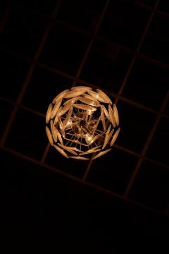 Vistosi White Iridescent Murano Glass Disc Chandelier Attributed to Vistosi - 1101201
