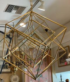 Visual Comfort Company Modern Kelly Wearstler Cubist Gilt Metal Light Fixture Chandelier - 2142241