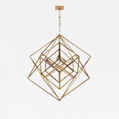 Visual Comfort Company Modern Kelly Wearstler Cubist Gilt Metal Light Fixture Chandelier - 2144905