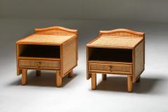 Vivai del Sud Bamboo rattan bed side tables Vivai del Sud 1970s - 1638222