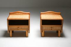 Vivai del Sud Bamboo rattan bed side tables Vivai del Sud 1970s - 1638224