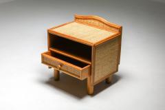 Vivai del Sud Bamboo rattan bed side tables Vivai del Sud 1970s - 1638226