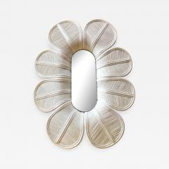 Vivai del Sud Glamorous Giant Flower Wall Mirror Italy 1960s - 890506