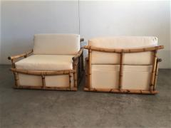 Vivai del Sud Pair of Large Armchairs in Bamboo - 1412000
