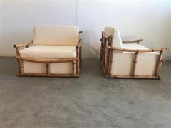 Vivai del Sud Pair of Large Armchairs in Bamboo - 1412001