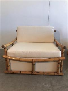 Vivai del Sud Pair of Large Armchairs in Bamboo - 1412004