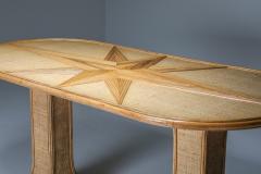 Vivai del Sud Rattan and Bamboo Table by Vivai del Sud 1970s - 1691808