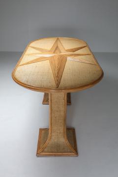 Vivai del Sud Rattan and Bamboo Table by Vivai del Sud 1970s - 1691811