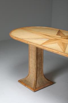 Vivai del Sud Rattan and Bamboo Table by Vivai del Sud 1970s - 1691812