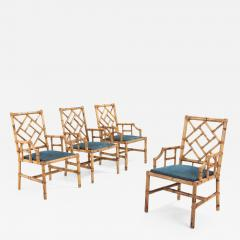 Vivai del Sud Vivai Del Sud Dining Chairs In Bamboo 1970s - 985885
