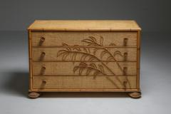 Vivai del Sud Vivai del Sud Bamboo Chest of Drawers Italy 1970s - 1691746