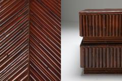Vivai del Sud Vivai del Sud Bamboo Sliding Table 1970s - 1566282