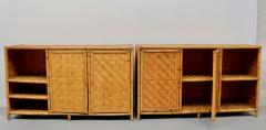 Vivai del Sud Woven bamboo sideboards Italy 60s - 1678483