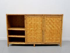 Vivai del Sud Woven bamboo sideboards Italy 60s - 1678484