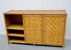 Vivai del Sud Woven bamboo sideboards Italy 60s - 1678485