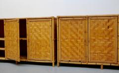 Vivai del Sud Woven bamboo sideboards Italy 60s - 1678486
