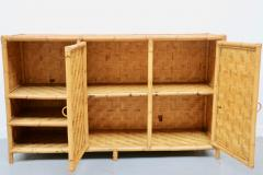 Vivai del Sud Woven bamboo sideboards Italy 60s - 1678487