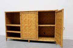 Vivai del Sud Woven bamboo sideboards Italy 60s - 1678488