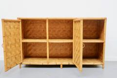 Vivai del Sud Woven bamboo sideboards Italy 60s - 1678489