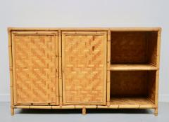 Vivai del Sud Woven bamboo sideboards Italy 60s - 1678490