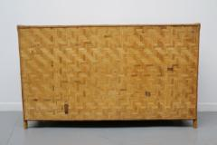 Vivai del Sud Woven bamboo sideboards Italy 60s - 1678494
