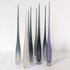 Vivarini FLUTE by Vivarini Series of 8 Murano glass vases - 1546502